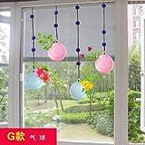 RUIPENGPENG Wall Sticker Aufkleber wasserdicht Abnehmbare für Wohnzimmer Kinder Baby Nursery den Garten Wandleuchte erfrischenden Balkon Schiebetür aus Glas wasserdicht, der Ballon, der