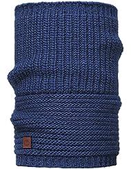 Buff Knitted Collar Braga de Cuello, Diseño de Rayas, Color Azul, Talla Única