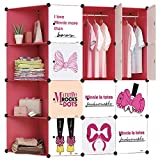 #5: GTC Multi Use Clothes Organizer, Bookcase, Storage Cabinet, Wardrobe Closet 146 x 47 x 146 CM Cloth Rack ( IT N - DIC 023 )