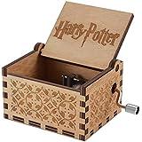 Tema de Hedwig Harry Potter Caja de Música de Madera, Manivela 18 Nota Grabado Láser