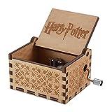 Hedwige de Thème Harry Potter à la Main Tubulaire 18Note Antique gravé au Laser en Bois Boîte à Musique