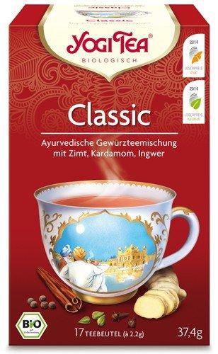 Yogi Tee, Classic Ayurvedische Teemischung, Biotee, Chai, eine Perle aus der Schatztruhe des Ayurveda, 17 Teebeutel, ca 37,4g