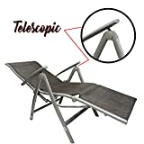 #6: Kawachi® Deluxe Relax Deck Chair in Aluminum with Armrest