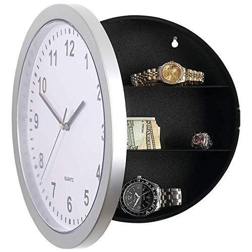 Wolfgo Reloj Caja de Contenedor Secreta Oculta Segura Reloj Caja de Caja Segura for Dinero Almacén...