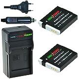 ChiliPower Canon NB-6LH Kit: 2x Batería (1200mAh) + Cargador para Canon PowerShot D10, D20, D30, ELPH 500 HS, S90, S95, S120, SD770 IS, SD980 IS, SD1200 IS, SD1300 IS, SD3500 IS, SD4000 IS, SX170 IS, SX240 HS, SX260 HS, SX270 HS, SX280 HS, SX500 IS, SX510 HS, SX520 HS, SX600 HS, SX700 HS