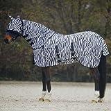 Waldhausen Fliegendecke Zebra. 145 cm, schwarz/weiß, 145 cm