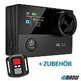 EBADU Action Cam 4K12: Wasserdichte Kamera mit 4K/30fps (1080p/60fps) Wifi, Fernbedienung, Super-Weitwinkel-Objektiv, Ti
