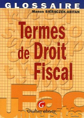 Termes de Droit fiscal