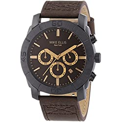 Mike Ellis New York SL4-60212 XL Men's Leather Chronograph Quartz Watch