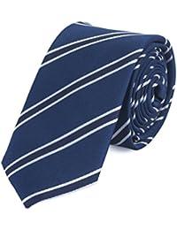 Cravate de Fabio Farini à rayures en bleue