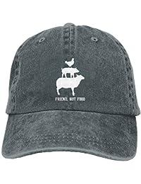 Aoliaoyudonggha Friend. Not Food Denim Hat Adjustable Womens Baseball Hats c1de86be8aa