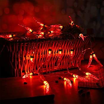 20 L E D Red Chilli Pepper Fairy Lights Amazon Co Uk