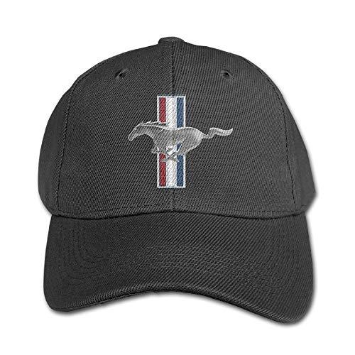 Youaini Senben Ford Mustang Kids Boys Girls Adjustable Snapback Hip-hop Baseball Cap Black -