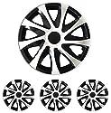 "Radkappen Radblenden Radzierblenden Draco Bicolor schwarz-weiss 15 Zoll 15"" R15 Opel Agila, Astra F G, Calibra, Combo, Corsa A B C D"