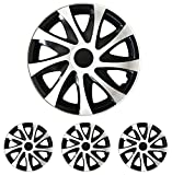 "Radkappen Radblenden Radzierblenden Draco Bicolor schwarz-weiss 15 Zoll 15"" R15 Seat Arosa, Cordoba, Ibiza, Inca, Toledo, Leon"
