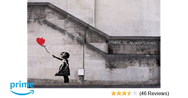 BUY 2 GET ANY 2 FREE BANKSY /'GIRL WITH THE RED BALLOON/' POSTER PRINT A4 A3