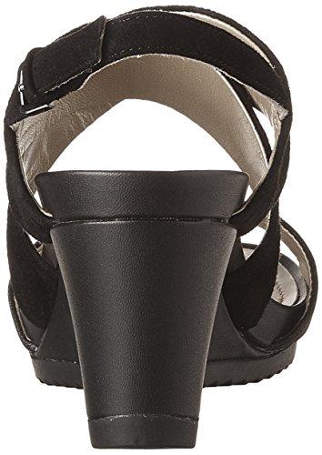 Geox D Nouveau Rorie A, Sandales Compensées Femme Noir (blackc9999)