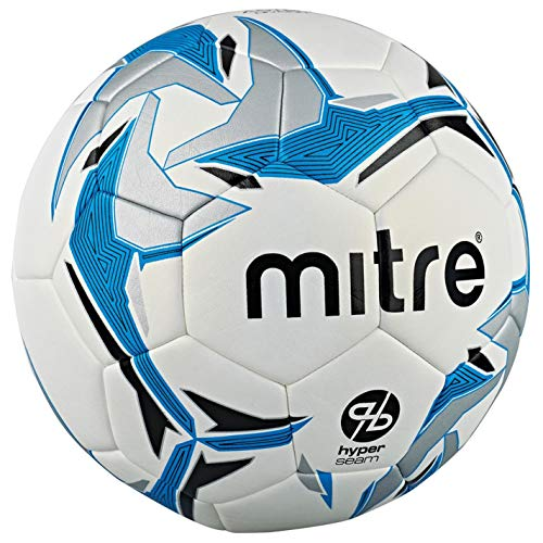 Official Mitre Astro Division Hyperseam Football White Blue Soccer Ball Size 5
