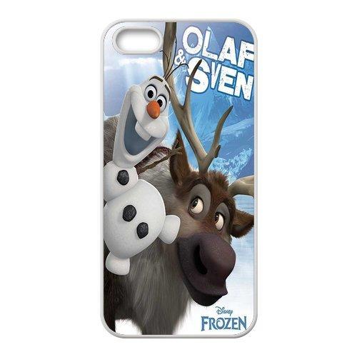 """Fine pour apple iPhone 5/5S """"la reine des neiges olaf coque rigide de protection pour apple iPhone 5/5S"""