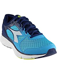 Diadora Men's Run 505 Blue Fluo/White Athletic Shoe