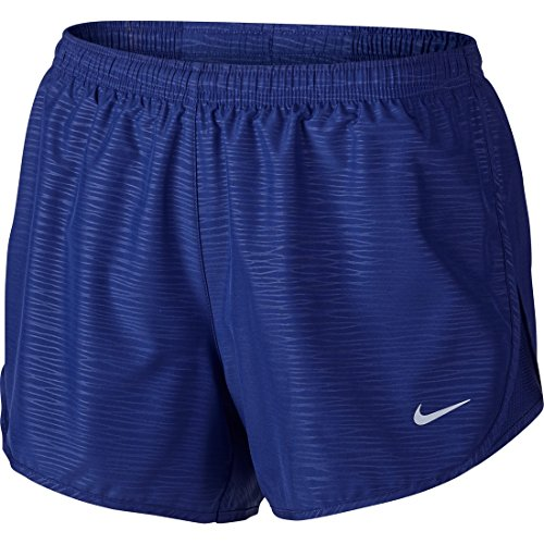 Nike Damen Oberbekleidung Modern Embossed Tempo Shorts, Deep Royal Blue/Reflective Silver, S -
