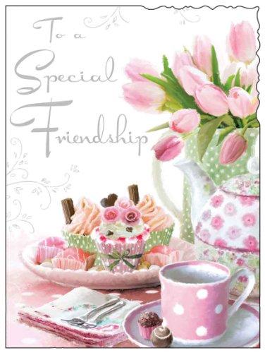 Friendship Flowers Birthday Card