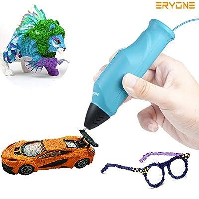 Stift 3D, 3D Drucker, Eryone 3D Druck Stift Kompatibel mit PLA/PCL, Niedrigtemperatur-Druck, USB Lade, Last Filament automatisch, 3D-Drucker für STEMPEL Bildung