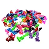 Vanker - Lot de 40paires de chaussures pour poupée, couleurs aléatoires