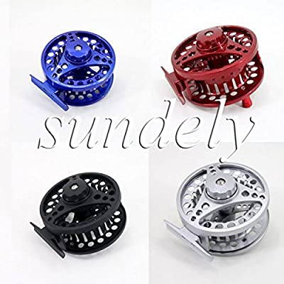 SUNDELY® Hi-Q 85mm 5/6 Aluminum Fly Fishing Reel Trout Fishing Left or Right Handed from SUNDELY