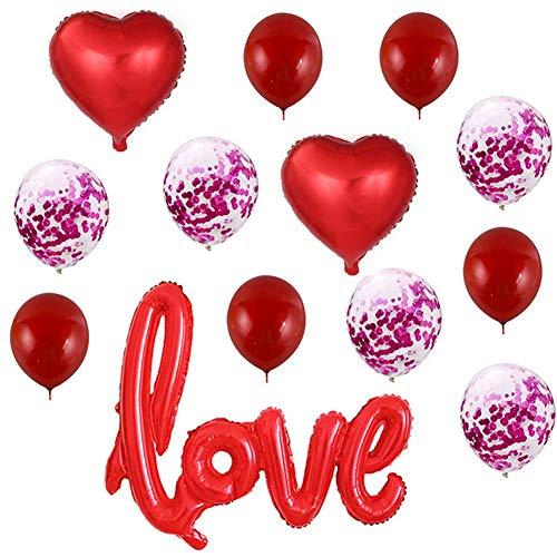 QIAO Die Liebe Tuba Aluminium - Film - Valentinstag - Hochzeit hochzeitszimmer DEKO - 12 - Zoll - Pailletten - Ballon