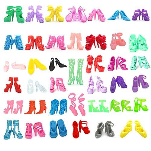 Yomon 40 Paia Scarpe col Tacco Alto Giocattolo Decorazione Accessori per  Barbie Doll Casuale Style ddbc665fee4