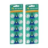 MovilCom 20 Knopfzellen AG6 Batterien 1,5 V ersetzt 371, SR920SW, V371, D371, S921E, 605, SR921, LR921, SR69