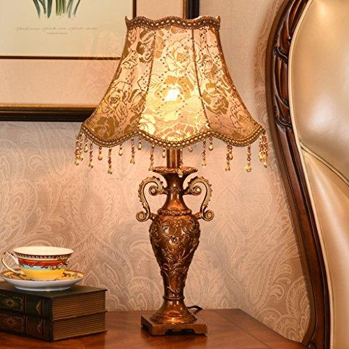 Meters Europäischen Stil Retro Schlafzimmer Wohnzimmer Schlafzimmer Bettdecke kreative Spitze Stoff Schatten Harz Lampe Körper 52cm * 30cm Lampe -