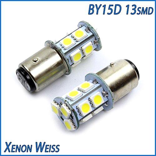 Preisvergleich Produktbild INION® XENON WEISSE 2 x BAY15D P21/4W 13SMD / LED KALT - WEISS KFZ Autolampe