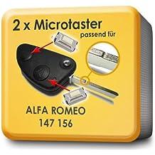 microtaster Llave de mando a distancia 2unidades para Alfa Romeo 147156(MP08)