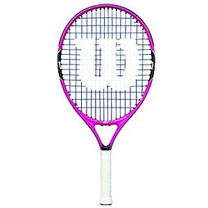 Wilson Kinder/Jugend-Tennisschläger, Burn Pink 25, Pink/Schwarz, Für Kinder und Jugendliche mit einer Körpergröße von 130 bis 145 cm, WRT218200
