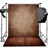Photography Backdrop, 1.5 x 2.1 m Concrete Wall Wood Floor Backdrop For Studio Props Photo Backdrop