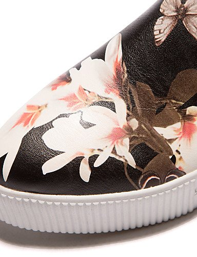 ZQ Scarpe Donna - Ballerine / Mocassini - Ufficio e lavoro / Formale / Casual - Creepers / Punta arrotondata - Plateau - Finta pelle -Nero / , white-us8 / eu39 / uk6 / cn39 , white-us8 / eu39 / uk6 /  black-us6.5-7 / eu37 / uk4.5-5 / cn37