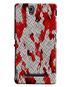 Omnam Blood Effect On Steel Printed Designer Back Cover Case For Sony Xperia C3