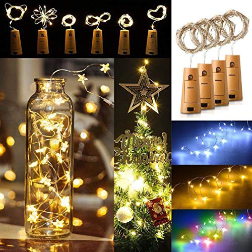 (Keptei LED Flaschenlicht Lichterketten Weinflaschen Lichter Korken 20 Leuchten Stimmungslichter LED Lichter für Party, Hochzeit, Weihnachten, Halloween, Beleuchtung Deko)