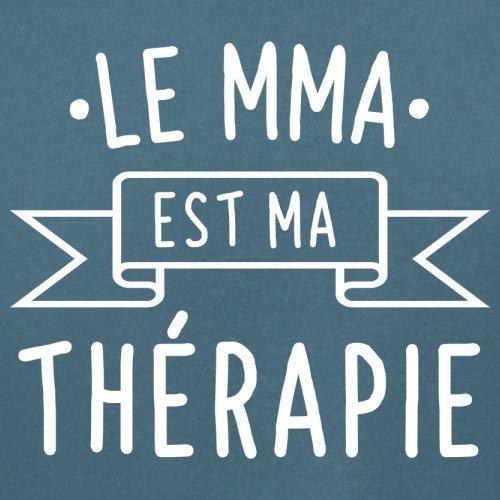 Le mma est ma thérapie - Femme T-Shirt - 14 couleur Bleu