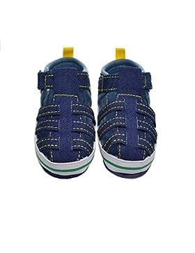 Hongfei El bebé infantil calza sandalias antideslizantes suaves del paseo del velcro de la suela