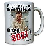 Alfred Tetzlaff Finger Weg Tasse Oller Sozi Zitat Spruch Humor Spaß Kult Serie - Tasse Kaffee Becher #10677