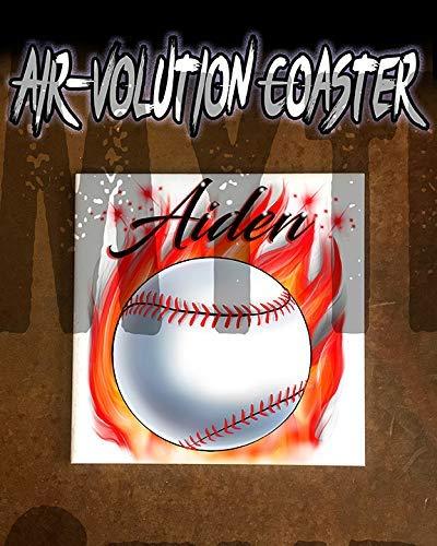 onalisierte Airbrushed Baseball Ceramic Coaster Weiß ()