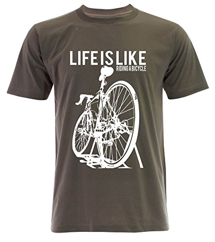 PALLAS Unisex's Cycling Life Is Like Riding A Bicycle Khaki