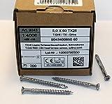 5 x 60 mm Edelstahl C1 Terrassenschrauben gehärtet Torx TX 25, Cutspitze 200 - 1000 Stück wählbar (200)