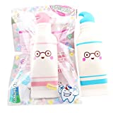 Squishies Clearance, Squishies Kawaii Cute Toothpaste Slow Rising Jumbo Cream Scented Charms Soft Silicone Toys Anti Stress Squeeze Mini Squishy Animal Toys Squishy Slow Rising for Kids Stress Relief Toys for Kids Adults (B)