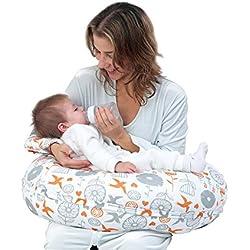 i-baby Coussin d'allaitement Coussin de Grossesse 4 en 1 avec Coton Housse Amovible Lavable Oreiller de Soutien du Corps Maternel