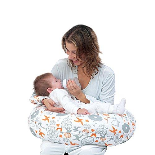 I-baby Cojín Lactancia Almohadas de Lactancia 3 EN 1 para Embarazo y Bebé con Cubierta de Algodón...