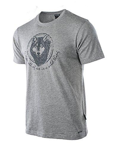 Hi-Tec Herren Lupus T-Shirt, Grey Malange, L